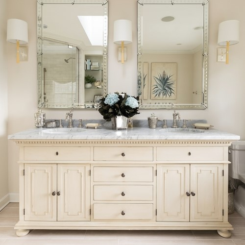 double sink with double mirrors in Dennis MA