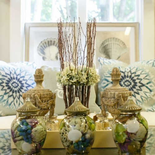 vases and decor pieces with beach theme in Padanaram MA